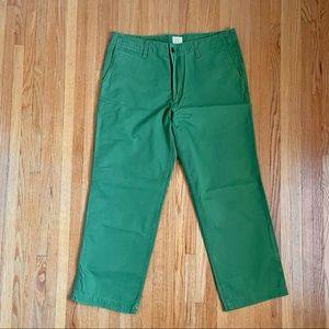 Docker Green Summer Cotton Chinos 36x30
